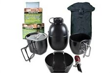 BCB CN004BB CRUSADER COOKING SYSTEM BLACK 8 PIECE SET BLACK POUCH