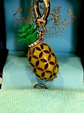 JUICY COUTURE- AUTHENTIC GOLD RARE PAVE PINEAPPLE FRUIT CHARM!! BLUE BOX HTF