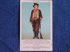 Legendary New Mexico Outlaw-Gunfighter Billy the Kid/Linen Postcard/Unposted