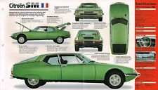 CITROEN SM SPEC SHEET / Brochure / Catalog- 1972,1973,1974,......