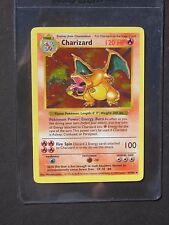 Pokemon SHADOWLESS CHARIZARD 4/102 - BASE SET HOLO - (PL/EX)