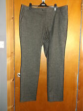 "M&S Collezione Brushed Touch Flat Front Slim Fit Trousers W42""L29"" Charcoal BNWT"