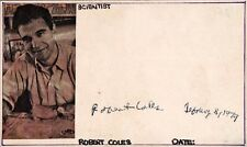 Child Psychiatrist ROBERT COLES Autograph