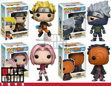 FUNKO POP JAPAN ANIME NARUTO KAKASHI SAKURA TOBI SERIES 2 SET OF 4 VINYL FIGURES