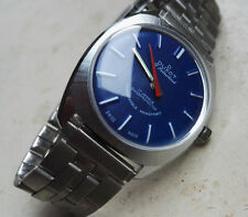 Vintage 1970´s NOS Duxot Swiss Made Watch 17 Juwels Blue