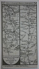 Original antique road map, Northants, Lincolnshire, Peterborough, Paterson 1785