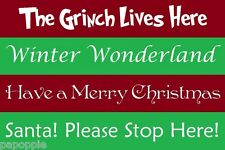 Christmas Stencils Lot of 4 Walls Sayings Grinch Crafts Holidays Winter