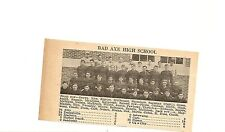 Bad Axe & Albion Michigan 1929 Football High School Team Picture