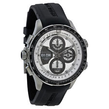 Hamilton X-Wind Khaki Automatic Chronograph Silver Dial Black Rubber Mens Watch