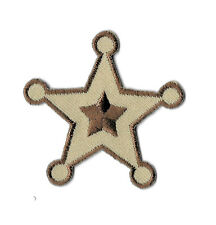Sherrif - Badge - Star - Western - Police - Embroidered Iron On Patch