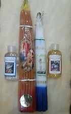 2- 33 Candles, holy water, oil blessed from Holy Sepulchre Jerusalem 50 ml each