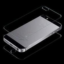 Front And Back For iPhone 5 5S Premium Real Tempered Glass Film Screen Protector