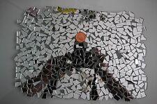Mosaico de cortes de vidrio de espejo de plata, arte y artesanía 1000 piezas, 1.8 mm de espesor