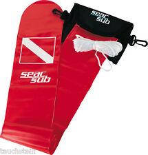 Oberflächensignalboje, Deko-boje, von Seacsub mit Tasche und Bleiverschluss