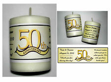28 ~ 50th ANNIVERSARY PARTY FAVORS VOTIVE CANDLE LABELS
