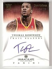 THOMAS ROBINSON 12/13 Immaculate Inspirations auto Rookie IN-RB SN#14/25