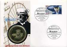 Numisbrief Deutschland Graf Ferdinand von Zeppelin 1992 mit Medaille N_122