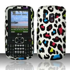 Rainbow Leopard HARD Case Phone Protector Cover for Tracfone Net10 LG 500g