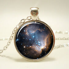 Galaxy Necklace, Heavenly Nebula Pendant, Stars And Universe Jewelry (1348S1IN)