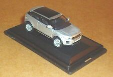 OXFORD DIECAST RANGE ROVER EVOQUE INDUE SILVER TWO DOOR MODEL CAR 1:76 SCALE