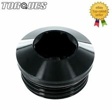 "1/2"" BSP BSPP Round Head Port Plug with O ring in BLACK"