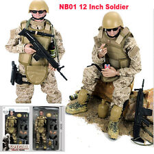 "New 12"" 1/6 NB01 Military Army Combat Desert ACU Soldier Action Figure Model Toy"