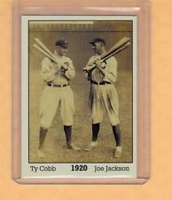 Ty Cobb & Shoeless Joe Jackson 1920, Monarch Corona Immortals #1, nm-mint cond.