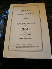 Partition Chants Religieux Profanes Noel Augusta Holmes Music Sheet
