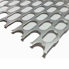 "304 Stainless Steel Slotted Perforated Sheet .035"" x 12"" x 12"" - 5/8"" x 1"" Holes"