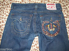 MENS TRUE RELIGION JEANS~BILLY~EMBROIDERED 36X31~L@@K'!!!!