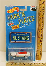 Vintage Hot Wheels 1965 Ford Mustang Convertible 1988 Park N Plates #2194 NOC