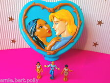 Polly Pocket Mini ☤ ** Disney Pocahontas lata ** ☤ con figuras 3