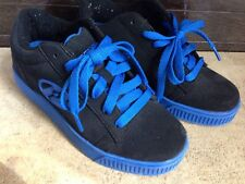 Heelys Straight Up Black and Royal Glide Shoes, Youth 6