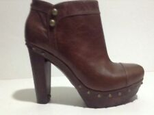 Ugg BROWN SZ 9.5 US Women Assia  Ankle Plateform Leather Boots New