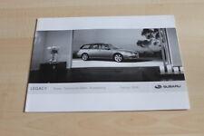 113693) Subaru Legacy - Preise & tech. Daten & Ausstattungen - Prospekt 02/2008