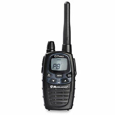Midland Alan G7 Pro License Free Two 2 Way Dual Band Radio Walkie Talkie Black