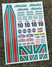 Rc Alitalia Stickers Calcomanías 1/18 Losi Mini Rayos X 18