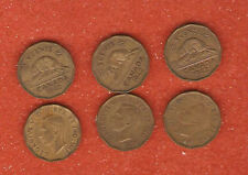 3 1942 canada tombac five cent coins (nice collectable coins)