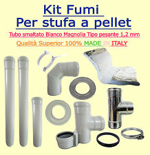 KIT SCARICO FUMI X STUFA A PELLET DIAM 80 SMALTATO SP1,2 FULL OPTIONAL