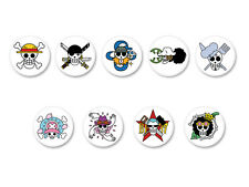 Lot Pack Badge Button Ø25mm One Piece Skull Logo Manga Japan Shōnen