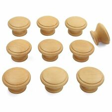 10 x Beech Wooden Door / Drawer Knobs | Kitchen Cupboard Cabinet 42mm diameter