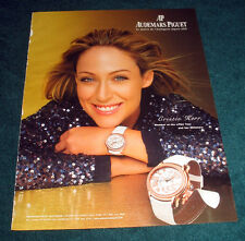 Cristie Kerr 1-pg large format magazine clipping 2007 ad for Audemars Piguet