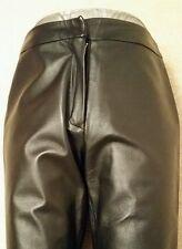 DETAIL Black Real Leather Trousers Pants Cuir uk10 eu36 us6 Waist w30ins w76cms
