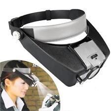 Kopflupe Kopfbandlupe Brillenlupe Stirnband Lupe +LED 10X Vergrößerung