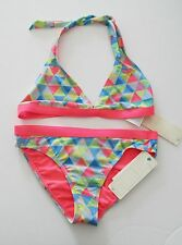 Roxy Girls 2 Piece Geometric Print Bikini Swim Set Sz 16 - NWT