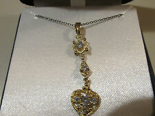 Womans 24KT Gold over Sterling Heart Necklace NEW in Box