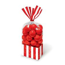 Cinema Hollywood Movie Sweets Candy Bags - Pack of 10 Red Striped 37755440