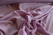 """Crinkled Bubble Gauze 100% Cotton LILAC 45"""" Wide Fabric by the Yard"""