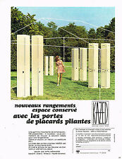 PUBLICITE ADVERTISING 094  1974   KAZED  portes pacard pliantes