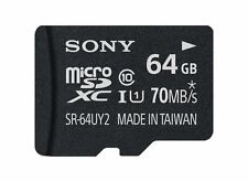 MEMORY CARD SONY 64GB UHS-I MICROSDXC (CLASS 10) TRANSFER SPEED UPTO 70MB/S